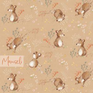 Mauseli – lillestoff