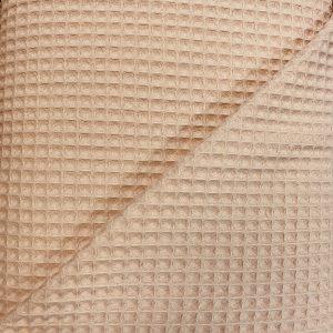 Baumwoll Waffelstoff Piqué Nude Rosa