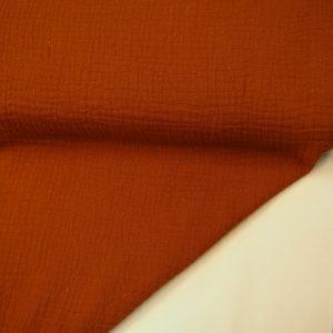 Baumwoll Musselin Stoff – Gebrannte Orange